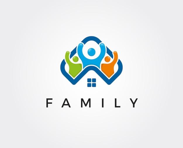 家族の家のロゴのテンプレート