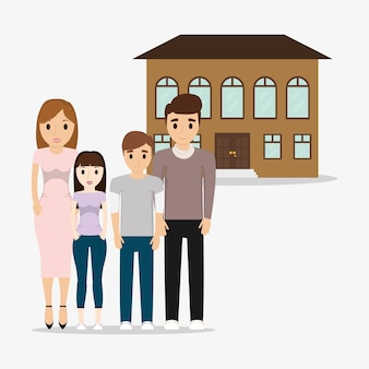 Family home structure image