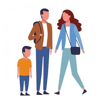 Family and kids cartoon
