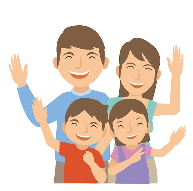 Family laugh and happy