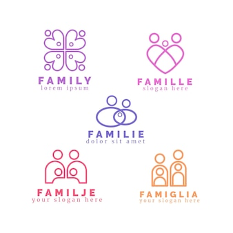 Family logo collection concept