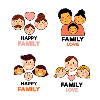 Family logo collection illustrated