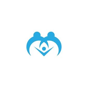 Шаблон логотипа семьи