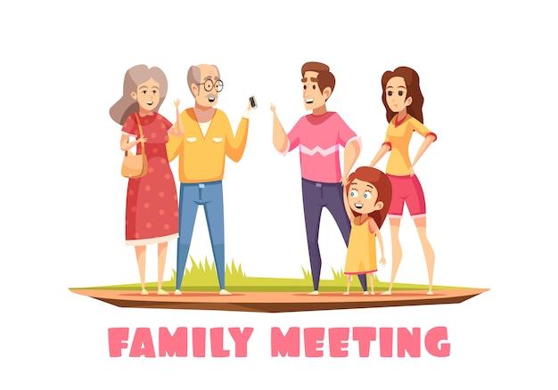 Состав семейного собрания Бесплатные векторы