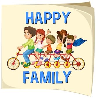 Family members riding on bike