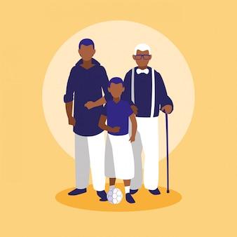 가족과 함께하는 캐릭터
