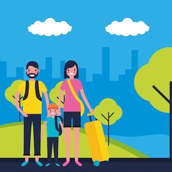 Семья на каникулах