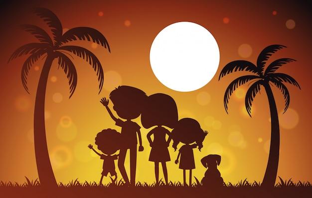 Семья на летнем отдыхе