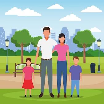 Family people cartoon