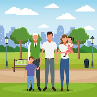 Family people cartoon