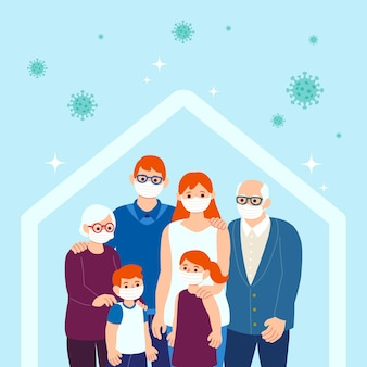 Семья защищена от вируса