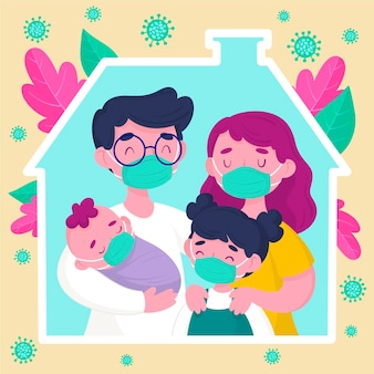 Family protected from the virus design