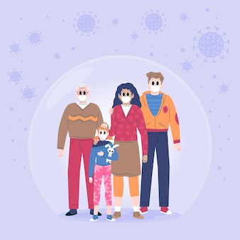 Family protected from the virus