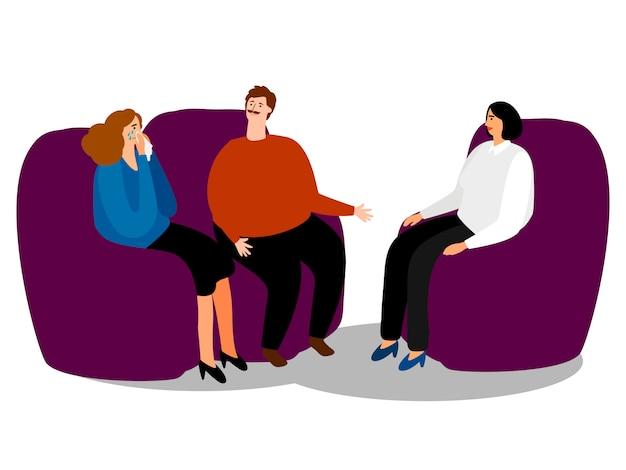 家族心理学者とカップル