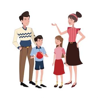 Семейное отношение счастливое