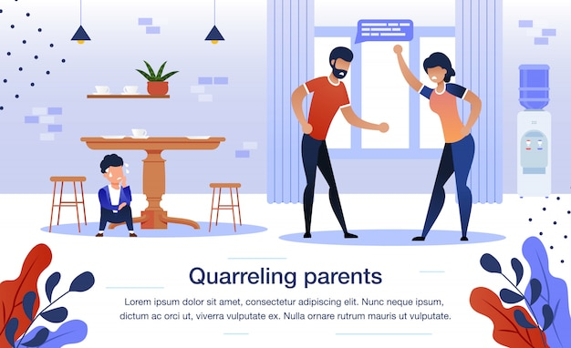 Family relationships problems flat   banner
