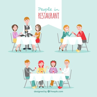 Family restaurant full of people