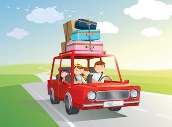 家族旅行。