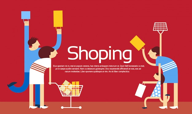 Family shopping bags trolley sale discount
