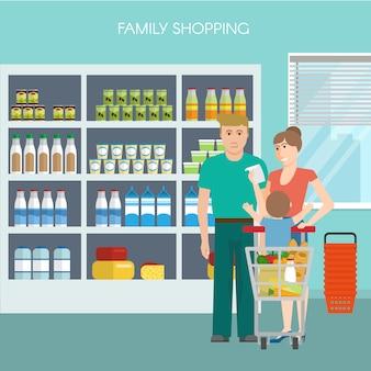 Семейный торговый дизайн