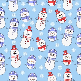 Family of snowman pattern