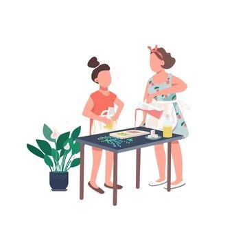 Семейное мыло для создания плоских цветных безликих персонажей