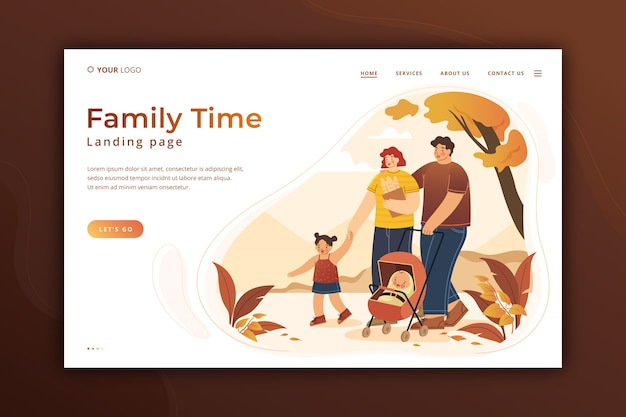 Family time landing page template
