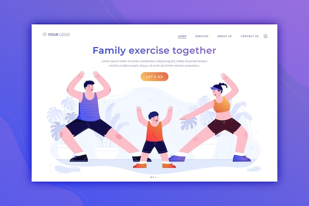 Family time landing page