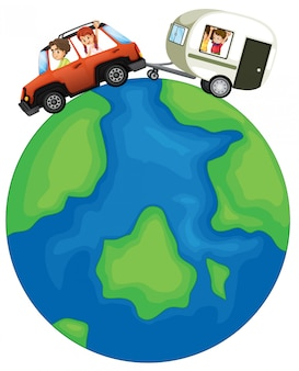 Family travel around the globe