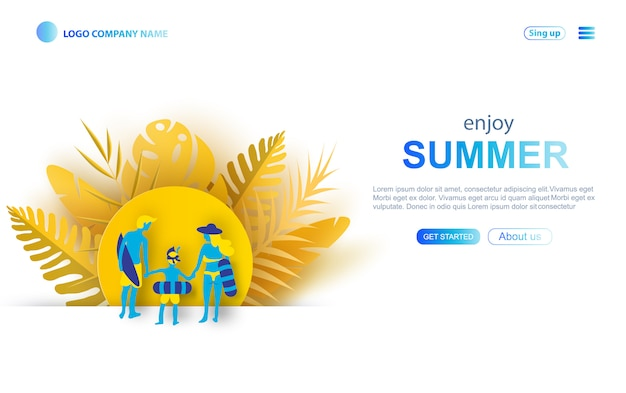 Family travel website template