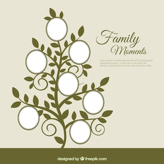Family tree in abstract style
