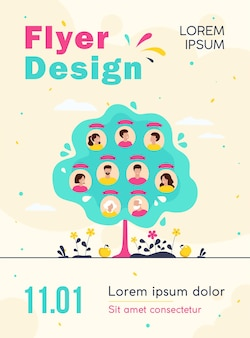 Family tree concept flyer template
