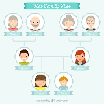 Family tree in flat design