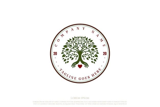 Генеалогическое древо жизни печать эмблема дуб баньян клен дизайн логотипа вектор