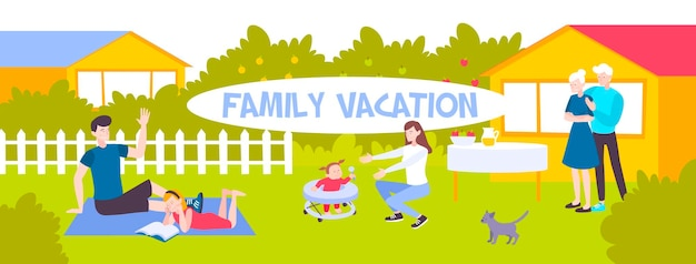 가족 휴가 삽화
