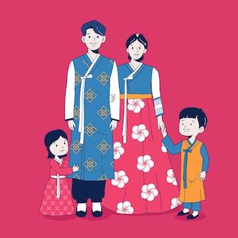Семья в ханбоке