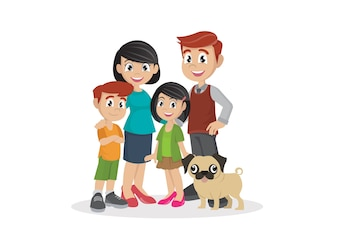 family with children.