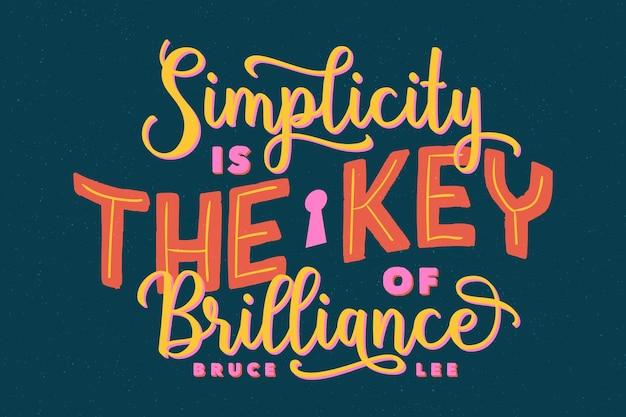 Lettering citazioni di design famoso