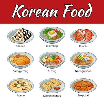 Famous food of korea