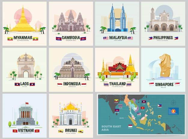 Famous landmark in asean
