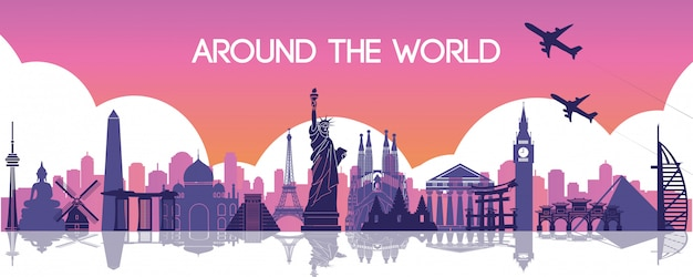 Famous landmark of the world, travel destination