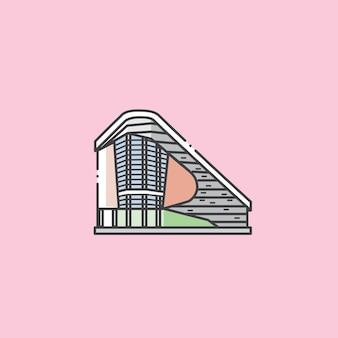コタキナバルサバマレーシアの有名な図書館の建物と観光のランドマーク