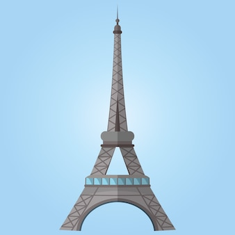 Famous world landmark. an image of paris eiffel tower. vector illustration