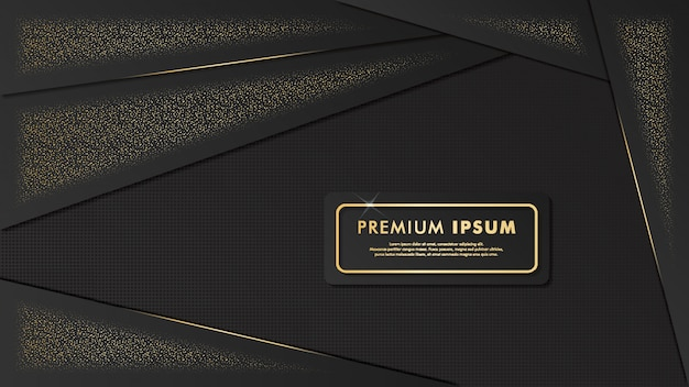 Fancy  black-gold template background