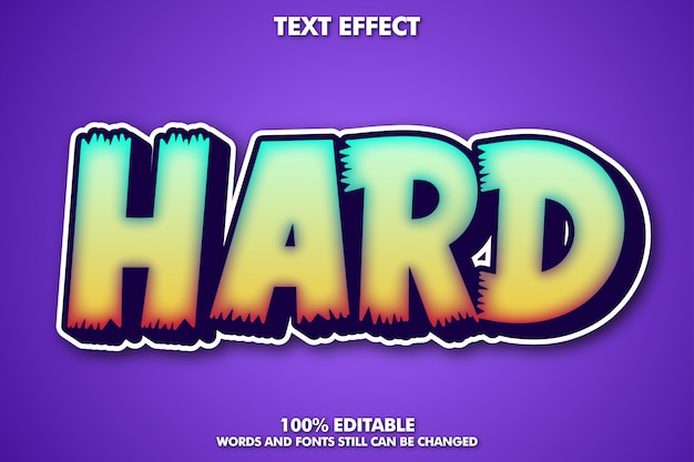 Fancy cartoon text effect
