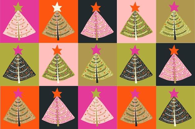 Fancy christmas pattern on black