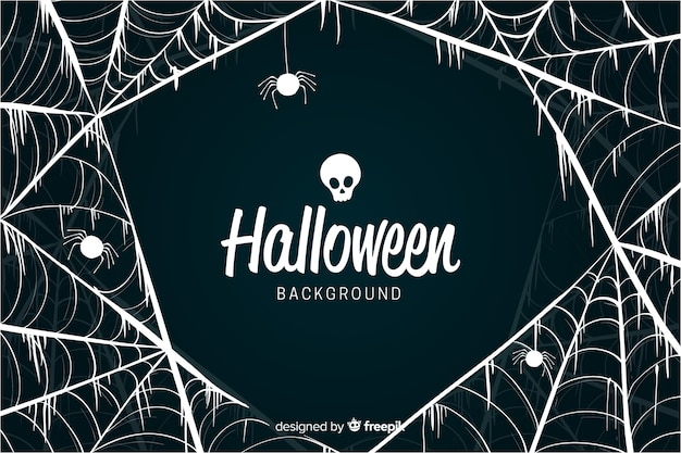 Fancy cobweb design halloween background