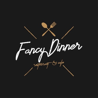 Fancy dinner logo vintage