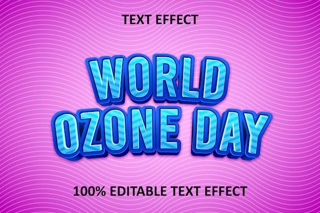 Fancy editable text effect blue pink