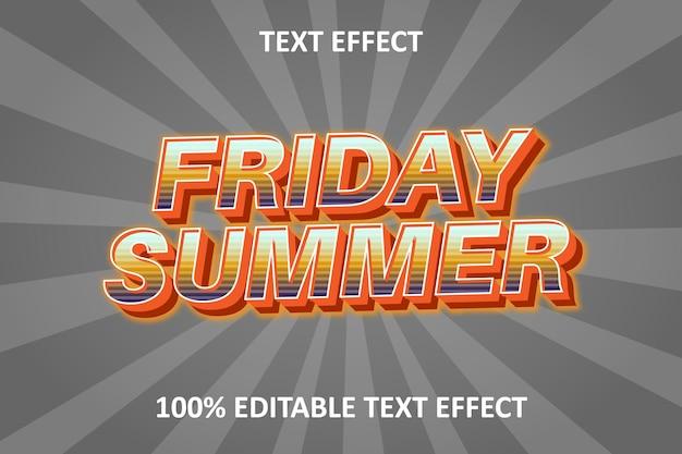 Fancy editable text effect orange silver